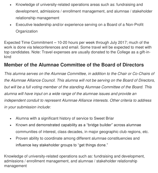 alumnae alliance message b
